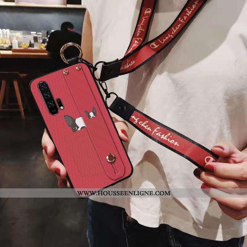 Étui Honor 20 Pro Fluide Doux Personnalité Rouge Dessin Animé Incassable Téléphone Portable