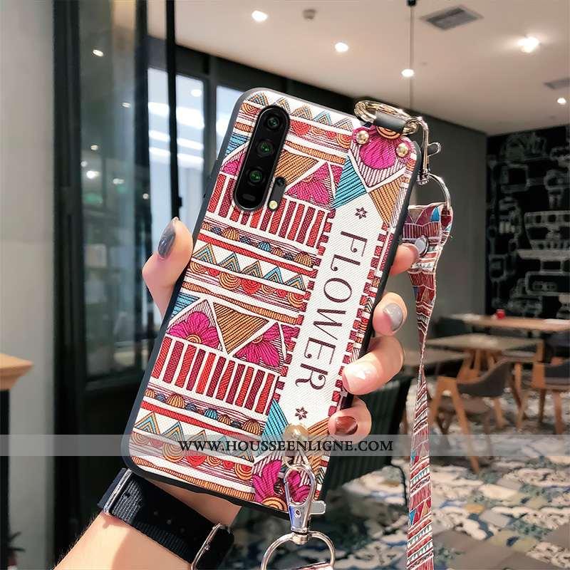 Étui Honor 20 Pro Fluide Doux Silicone Téléphone Portable Rouge Incassable Protection Rose