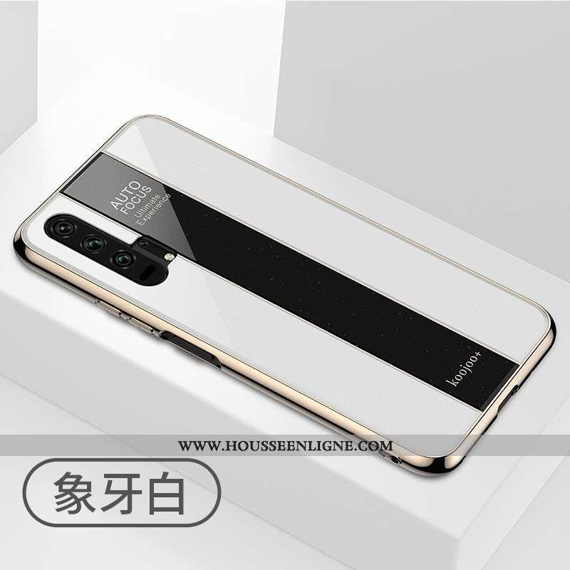 Étui Honor 20 Pro Fluide Doux Silicone Tout Compris Mode Créatif Téléphone Portable Blanche