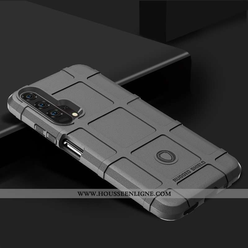 Étui Honor 20 Pro Silicone Protection Téléphone Portable Fluide Doux Incassable Gris
