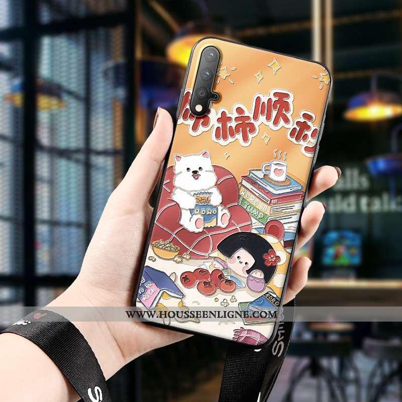 Étui Honor 20 Silicone Protection Gaufrage Téléphone Portable Charmant Tout Compris Orange