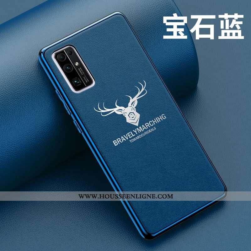 Étui Honor 30 Tendance Légère Tout Compris Net Rouge Téléphone Portable Cuir Protection Bleu