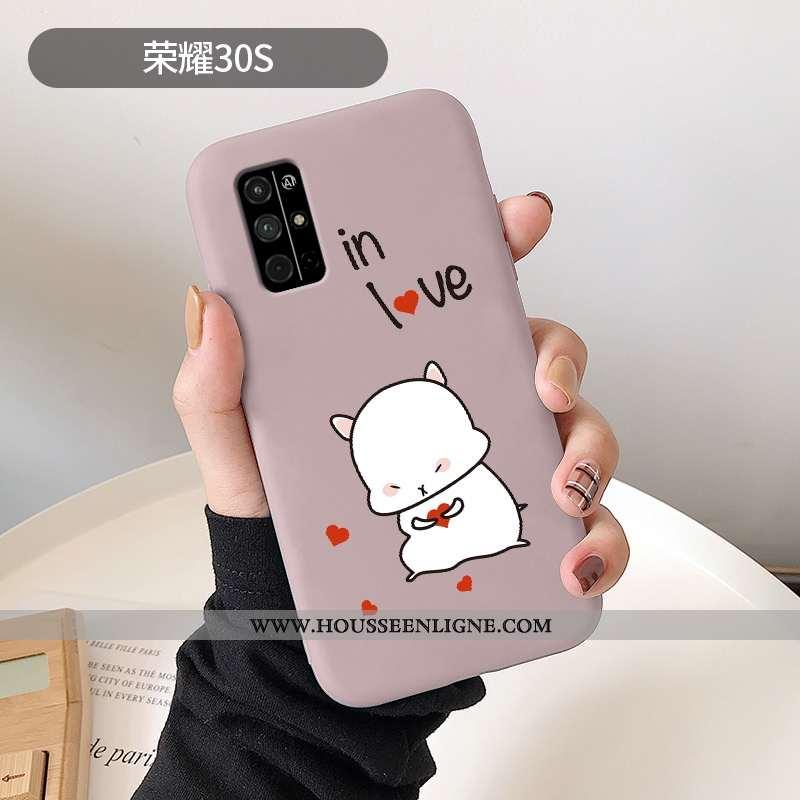 Étui Honor 30s Dessin Animé Ultra Frais Rose Amour Téléphone Portable Incassable