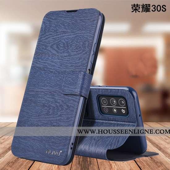 Étui Honor 30s Fluide Doux Silicone Protection Bleu Marin Incassable Coque Bleu Foncé