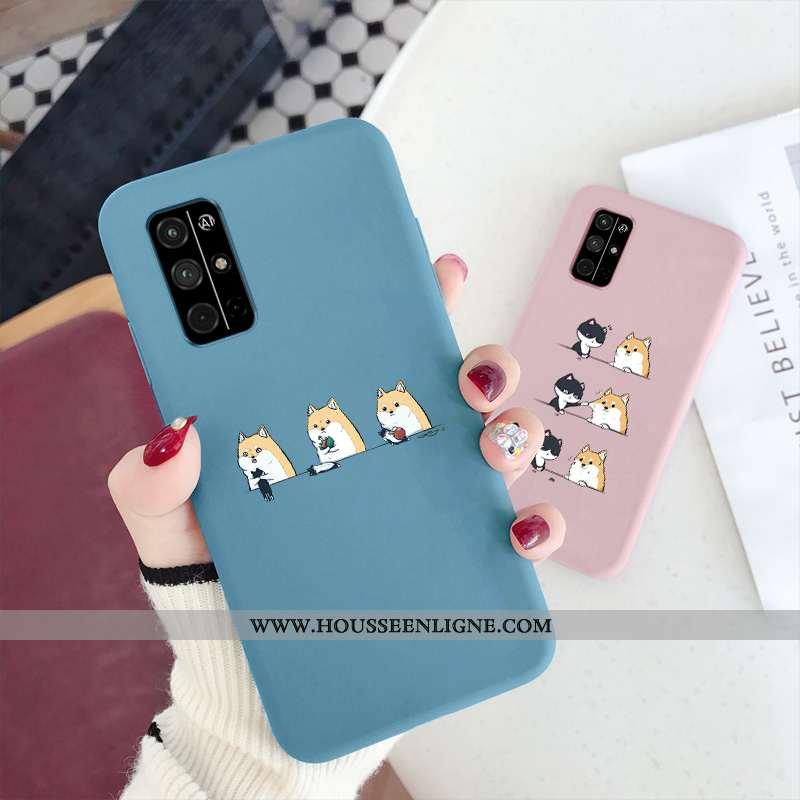 Étui Honor 30s Silicone Personnalité Téléphone Portable Dessin Animé Incassable Bleu Fluide Doux