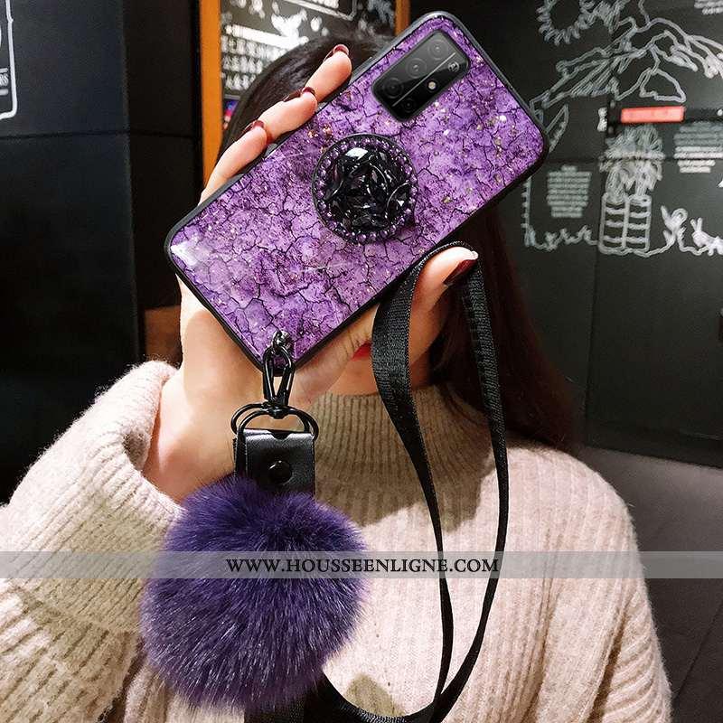 Étui Honor 30s Tendance Protection Incassable Coque Violet Ornements Suspendus Vert