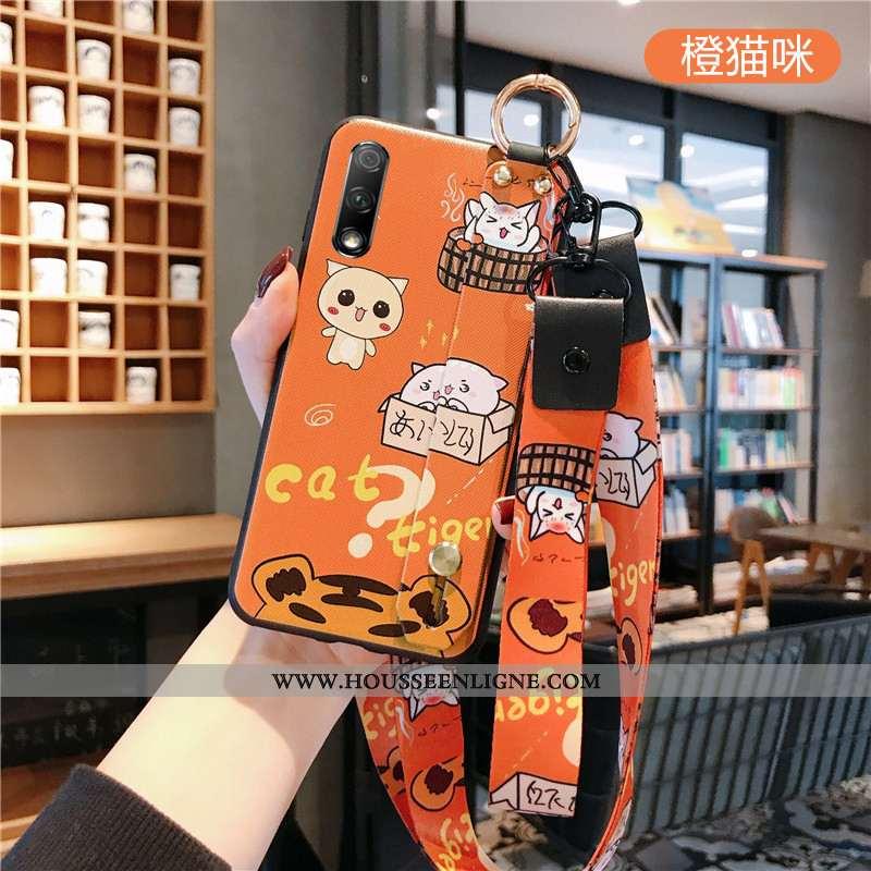 Étui Honor 9x Cou Suspendu Fluide Doux Créatif Téléphone Portable Orange Personnalité Mode