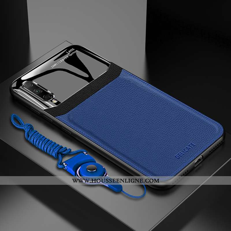 Étui Honor 9x Pro Fluide Doux Silicone Anneau Magnétisme Tout Compris Protection Bleu