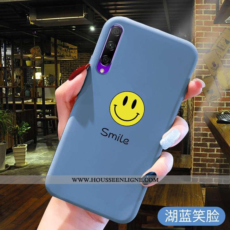 Étui Honor 9x Pro Fluide Doux Silicone Bleu Incassable Protection Téléphone Portable