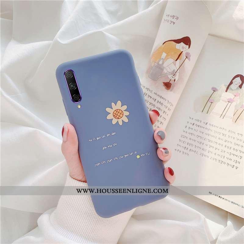 Étui Honor 9x Pro Fluide Doux Silicone Incassable Protection Bleu Délavé En Daim Téléphone Portable