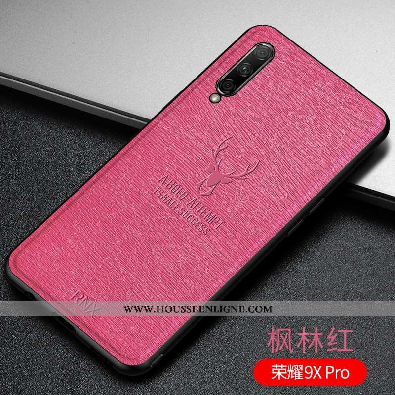 Étui Honor 9x Pro Fluide Doux Silicone Tout Compris Rouge Personnalité Téléphone Portable Ultra Rose