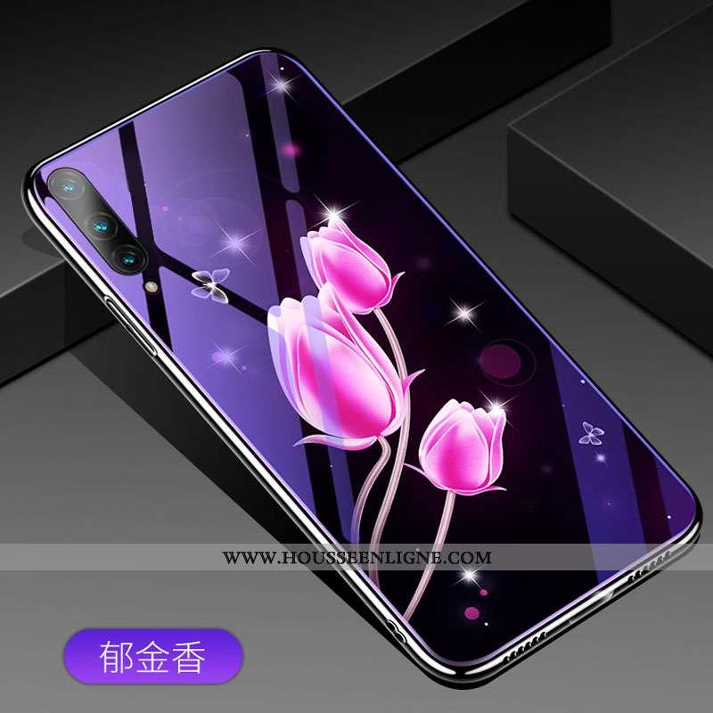 Étui Honor 9x Pro Personnalité Dessin Animé Violet Téléphone Portable Protection Tout Compris