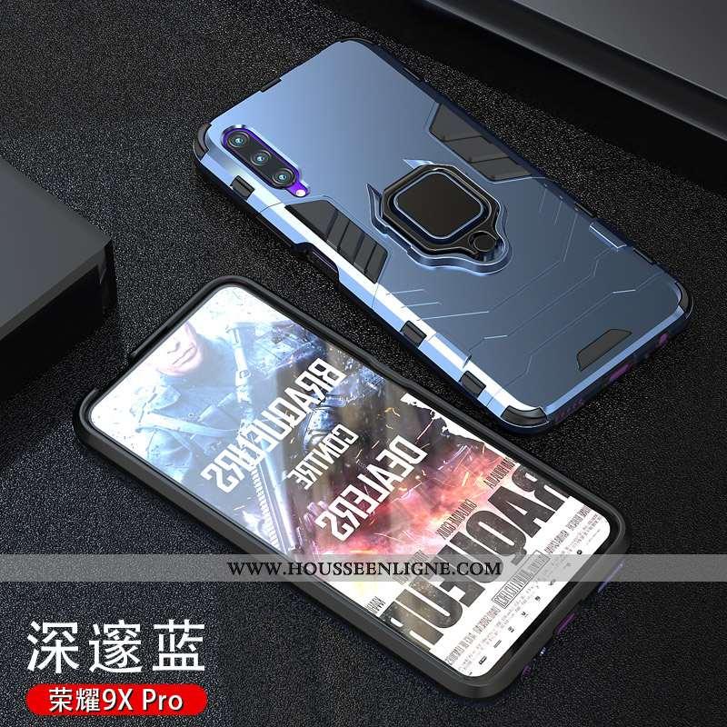 Étui Honor 9x Pro Personnalité Tendance Téléphone Portable Délavé En Daim Magnétisme Support Net Rou