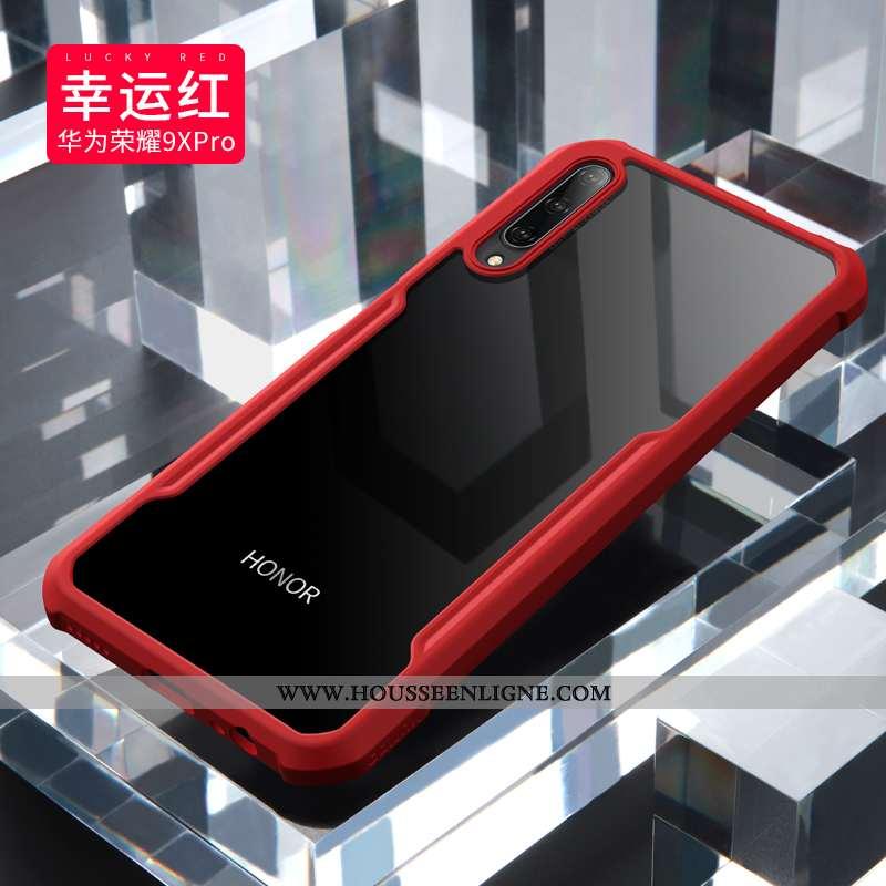 Étui Honor 9x Pro Protection Délavé En Daim Légère Incassable Tout Compris Silicone Ballon Rouge