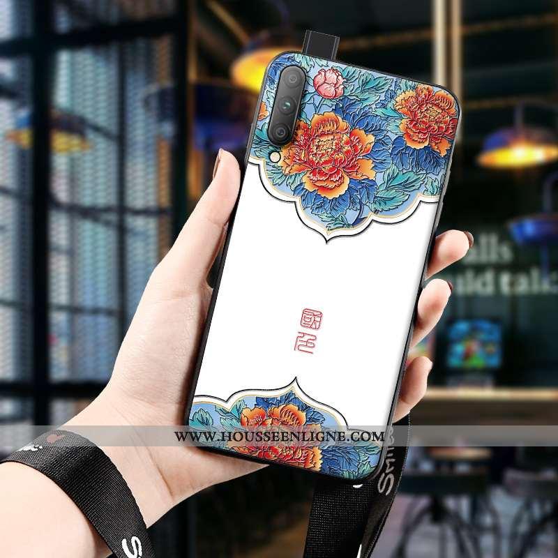Étui Honor 9x Pro Protection Gaufrage Silicone Art Incassable Vintage Blanche