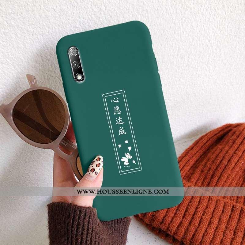 Étui Honor 9x Protection Délavé En Daim Légère Téléphone Portable Amoureux Ultra Coque Verte