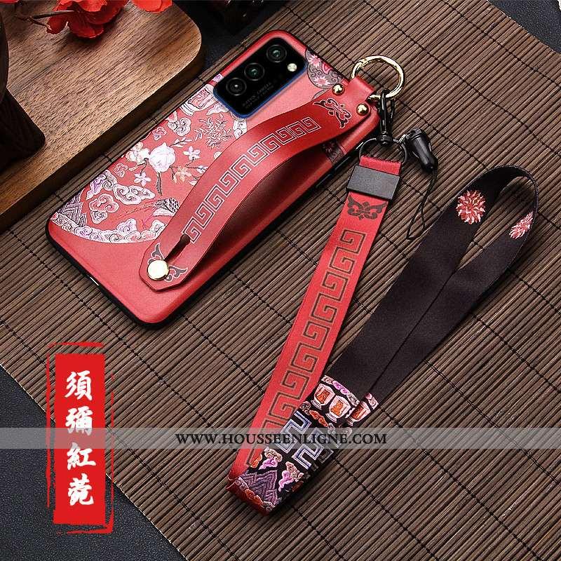 Étui Honor View30 Créatif Tendance Tout Compris Style Chinois Nouveau Téléphone Portable Coque Rouge