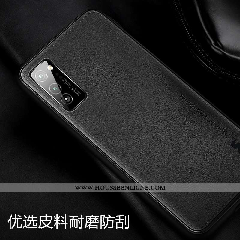 Étui Honor View30 Pro Protection Ultra Silicone Invisible Noir Cuir