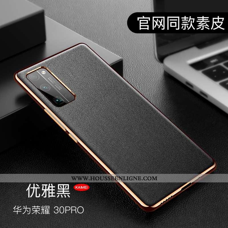 Étui Honor View30 Pro Silicone Mode Tout Compris Personnalité Incassable Téléphone Portable Noir