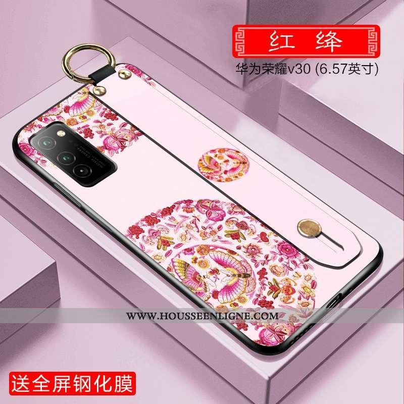 Étui Honor View30 Protection Ultra Téléphone Portable Rose Incassable Style Chinois