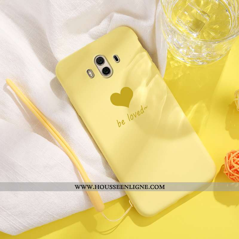 Étui Huawei Mate 10 Coque En Silicone Mode Téléphone Portable Net Rouge Protection Tendance Jaune