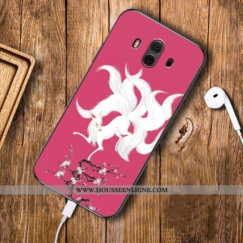 Étui Huawei Mate 10 Fluide Doux Silicone Personnalisé Tendance Rouge Téléphone Portable Rose