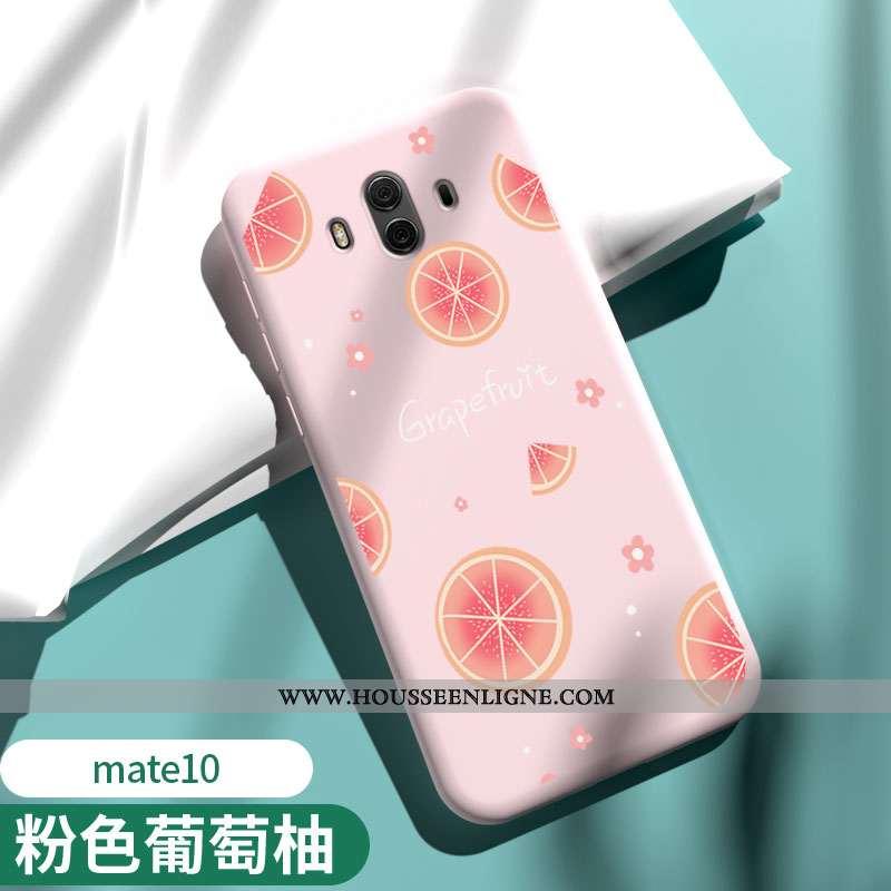 Étui Huawei Mate 10 Légère Fluide Doux Protection Net Rouge Tendance Téléphone Portable Coque Rose