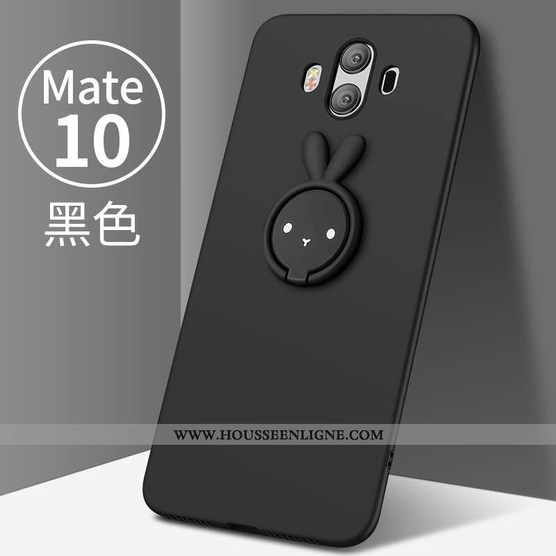 Étui Huawei Mate 10 Légère Protection Tendance Tout Compris Personnalité Délavé En Daim Noir