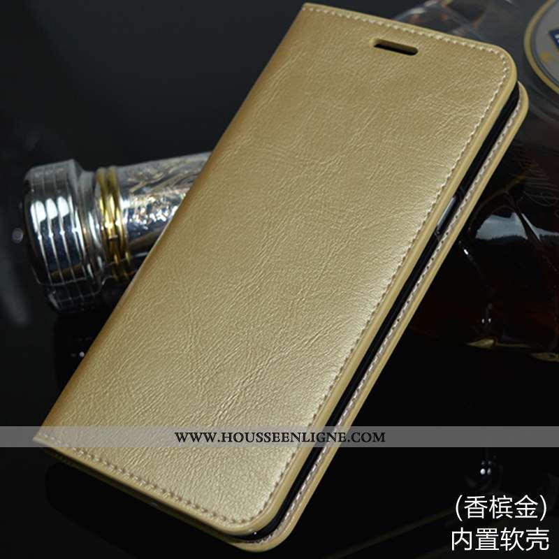 Étui Huawei Mate 10 Lite Cuir Véritable Téléphone Portable Or Coque Housse Incassable Doré