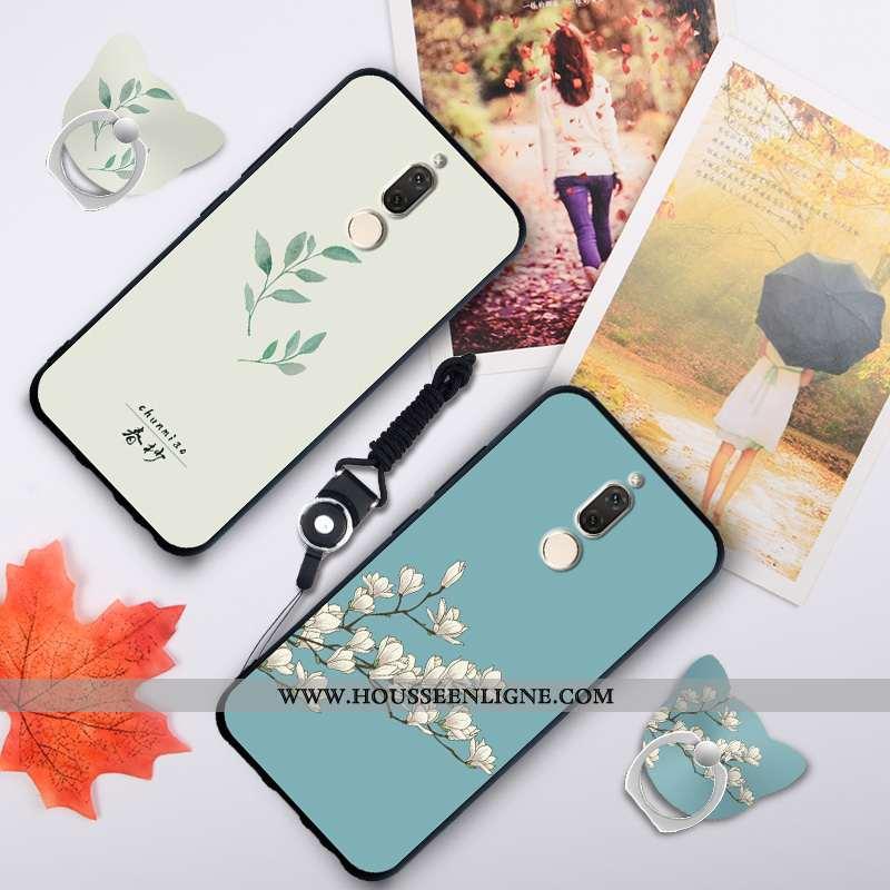 Étui Huawei Mate 10 Lite Fluide Doux Silicone Ornements Suspendus Coque Téléphone Portable Bleu