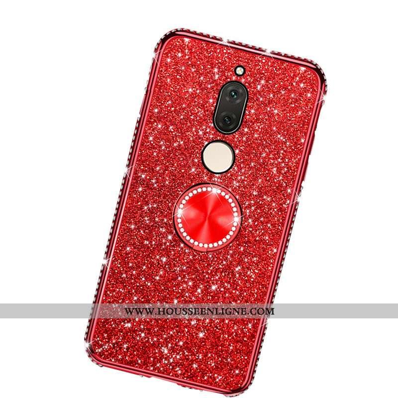 Étui Huawei Mate 10 Lite Ornements Suspendus Personnalité Rouge Anneau Membrane Incassable