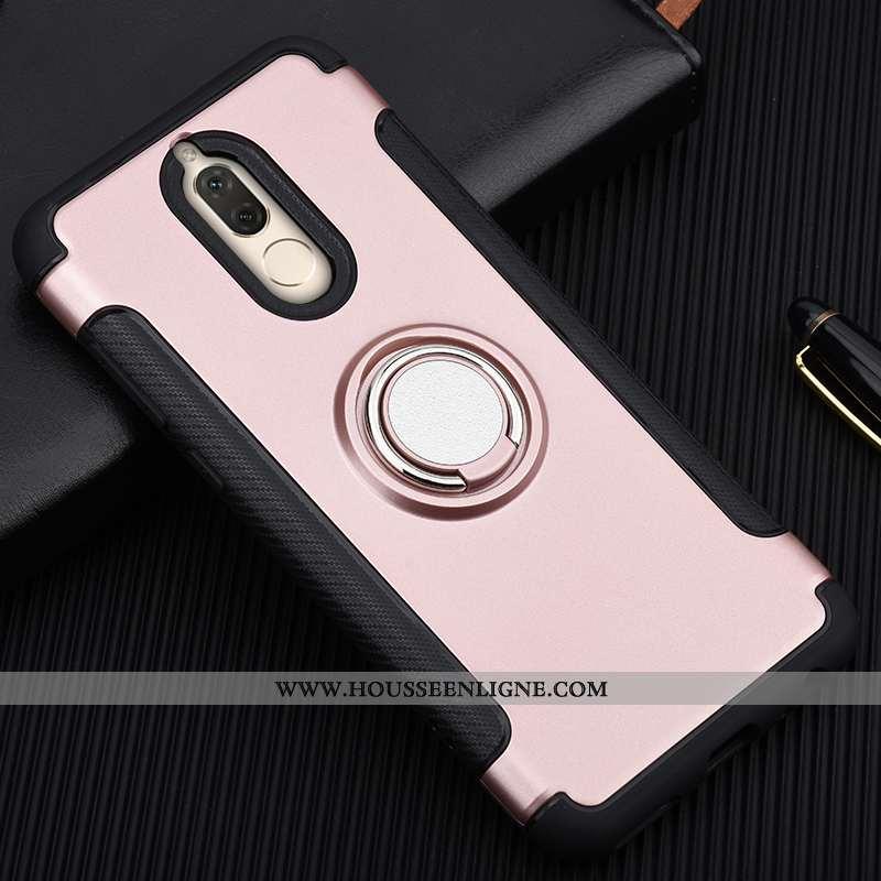 Étui Huawei Mate 10 Lite Protection Silicone Incassable Anneau Coque Magnétisme Rose