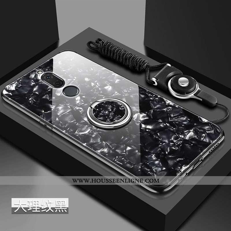 Étui Huawei Mate 10 Lite Silicone Protection Fluide Doux Verre Net Rouge Tout Compris Noir