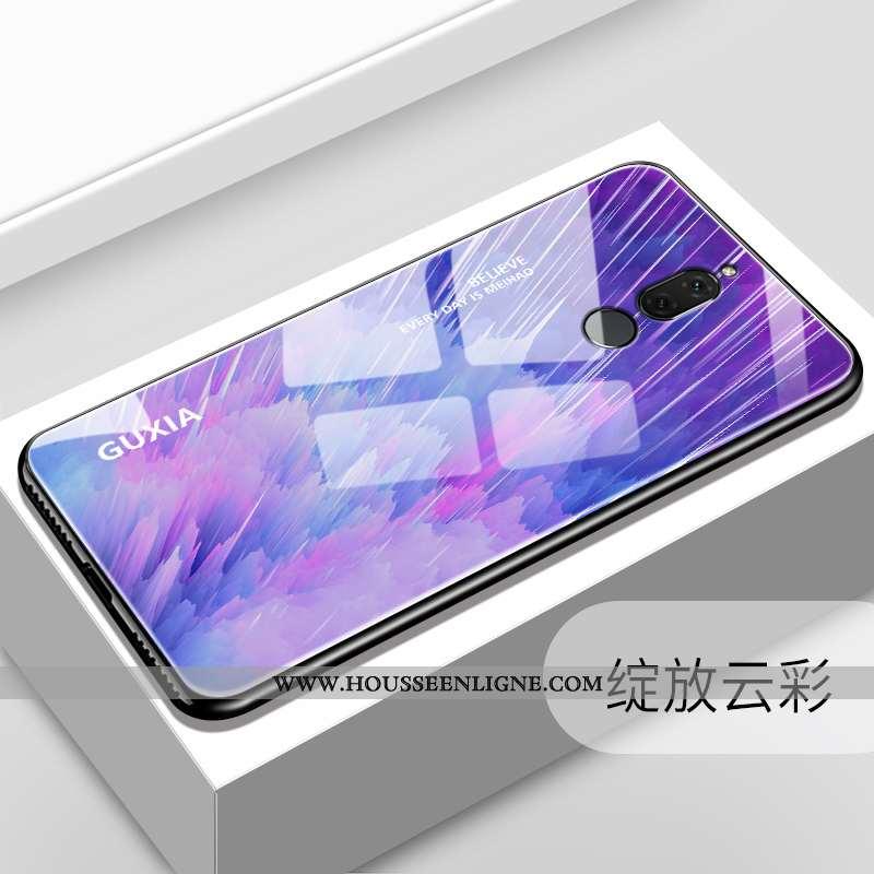 Étui Huawei Mate 10 Lite Tendance Fluide Doux Personnalité Miroir Téléphone Portable Verre Violet