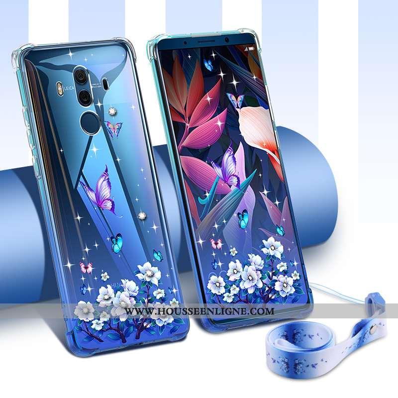 Étui Huawei Mate 10 Pro Personnalité Créatif Légère Tout Compris Bleu Tendance Ultra