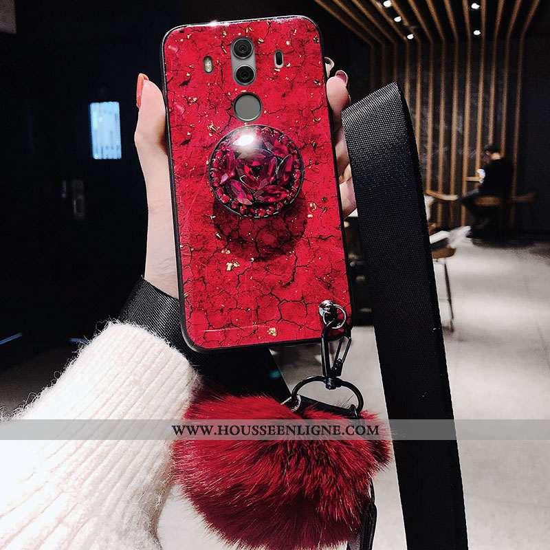 Étui Huawei Mate 10 Pro Protection Tendance Incassable Rouge Silicone Téléphone Portable Fluide Doux