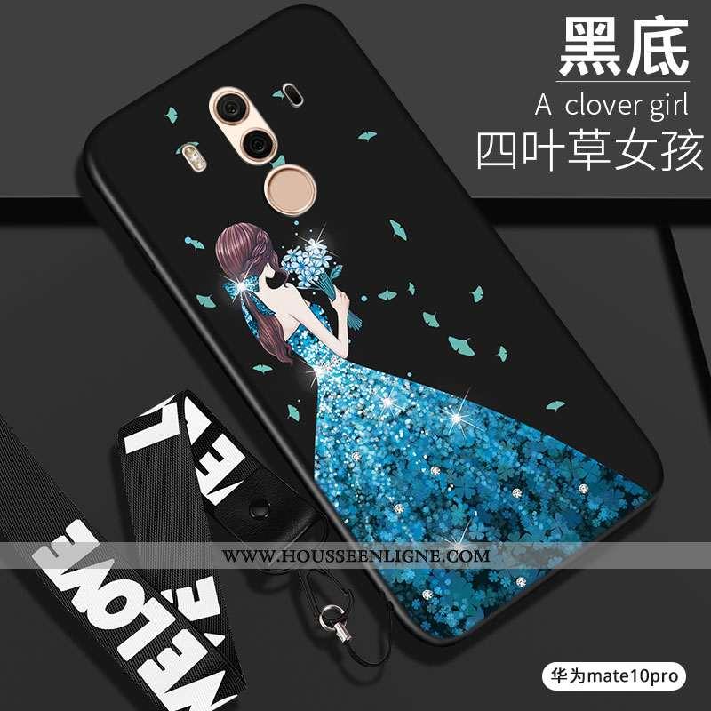 Étui Huawei Mate 10 Pro Silicone Protection Noir Fluide Doux Coque Tout Compris Téléphone Portable