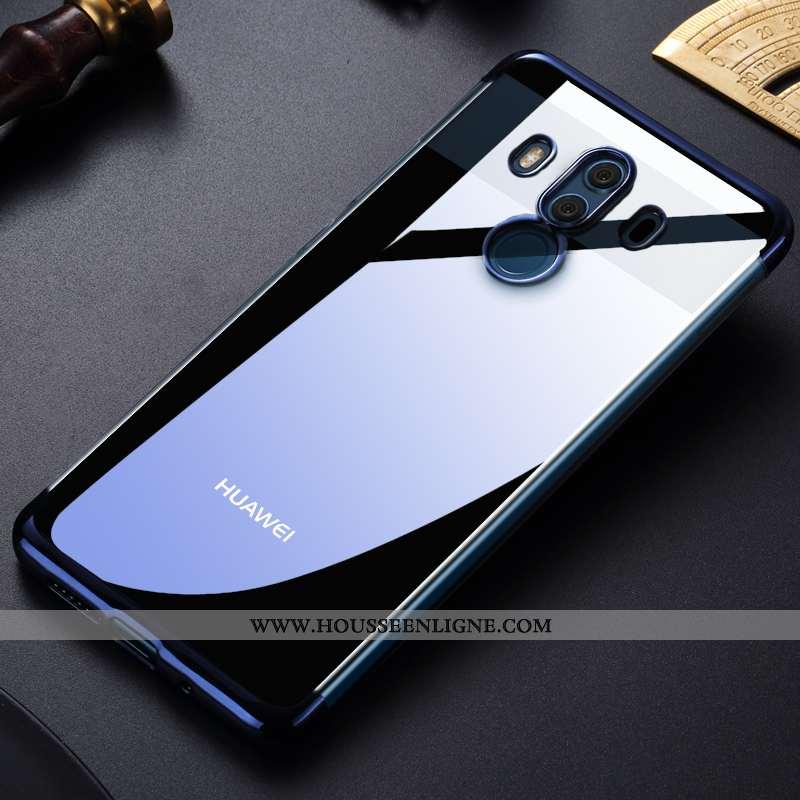 Étui Huawei Mate 10 Pro Tendance Fluide Doux Transparent Bleu Téléphone Portable Placage