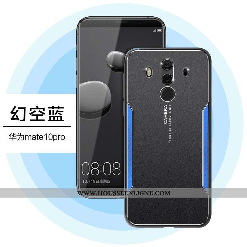 Étui Huawei Mate 10 Pro Ultra Tendance Protection Coque Personnalité Métal Noir