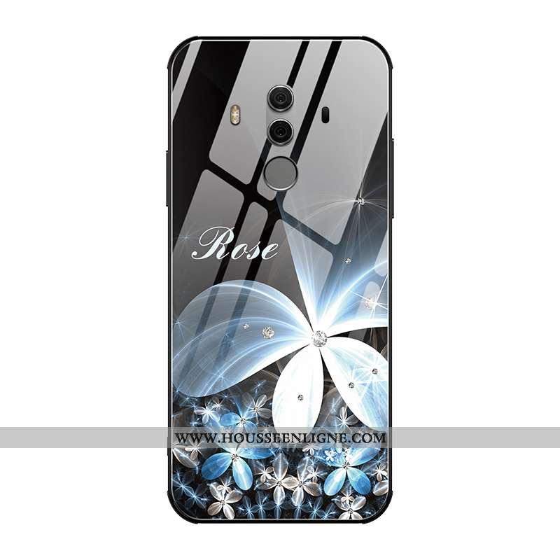 Étui Huawei Mate 10 Pro Verre Personnalité Tendance Tout Compris Ultra Protection Nouveau Noir