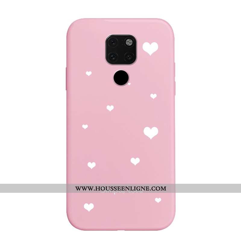 Étui Huawei Mate 20 Fluide Doux Délavé En Daim Personnalité Rose Dessin Animé Nouveau Amoureux