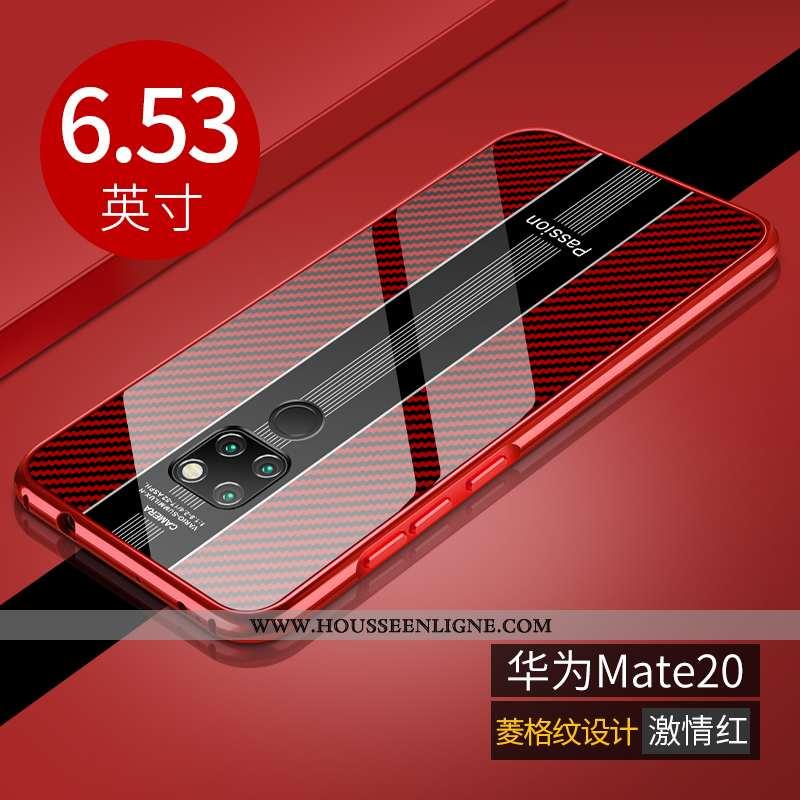 Étui Huawei Mate 20 Légère Protection Incassable Téléphone Portable Luxe Rouge