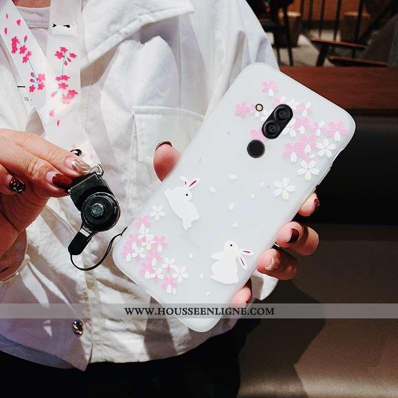 Étui Huawei Mate 20 Lite Tendance Fluide Doux Blanc Tout Compris Ornements Suspendus Coque Nouveau B