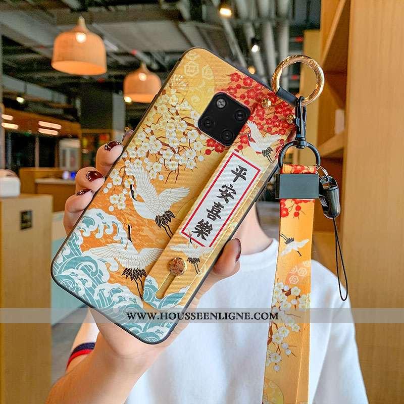 Étui Huawei Mate 20 Pro Créatif Fluide Doux Ornements Suspendus Jaune Grue Protection