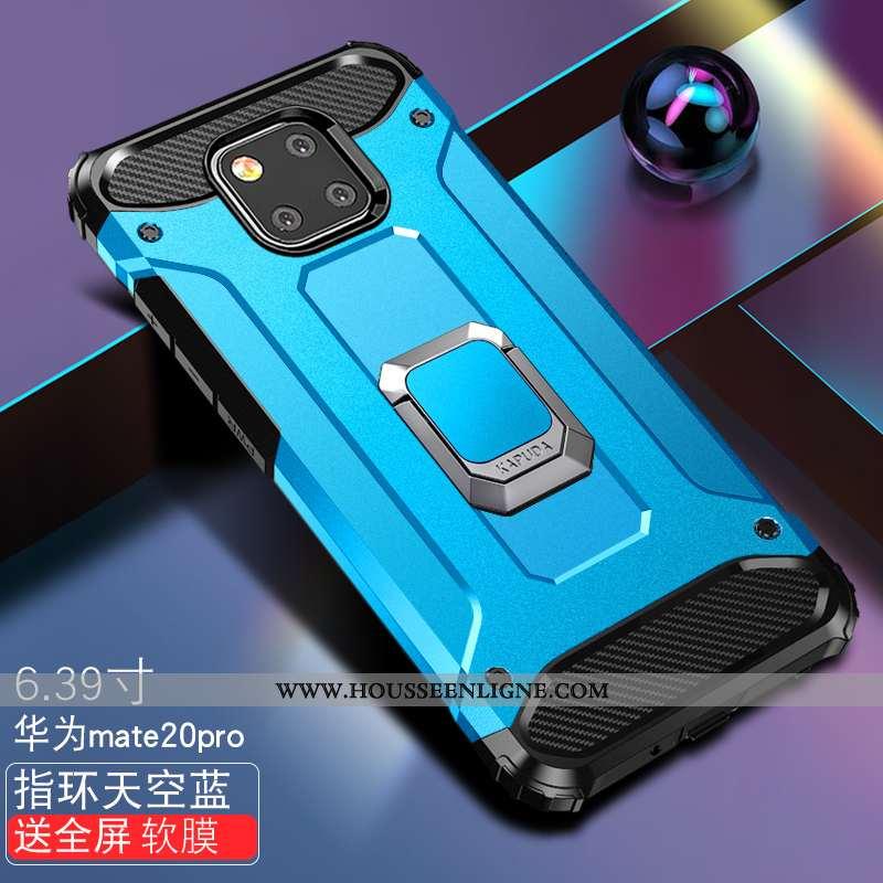 Étui Huawei Mate 20 Pro Légère Fluide Doux Incassable Téléphone Portable Coque Difficile Bleu