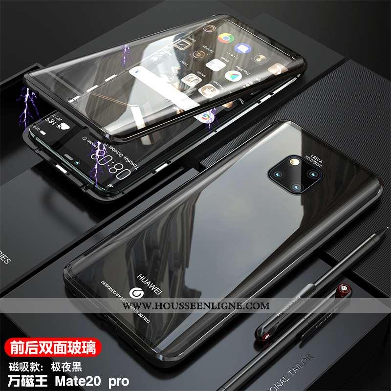 Étui Huawei Mate 20 Pro Légère Protection Magnétisme Transparent Ultra Noir