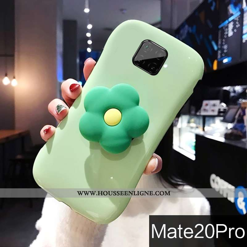 Étui Huawei Mate 20 Pro Personnalité Créatif Clair Support Silicone Vent Coque Verte