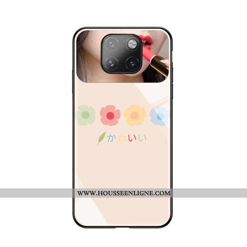 Étui Huawei Mate 20 Pro Personnalité Créatif Protection Téléphone Portable Simple Mode Rose