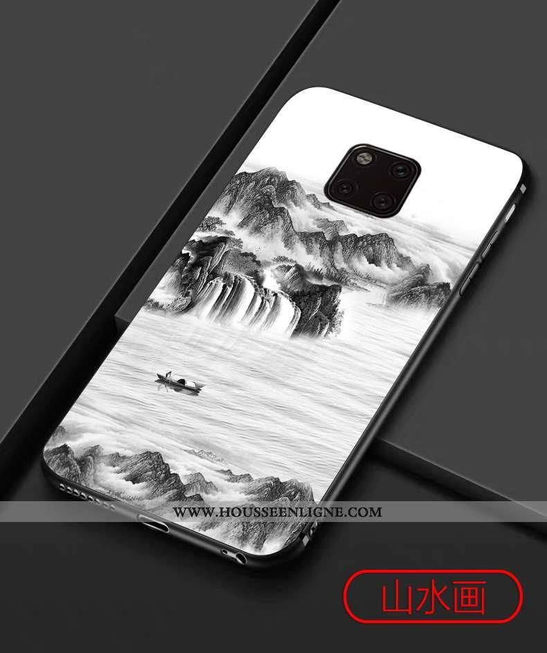 Étui Huawei Mate 20 Pro Vintage Tendance Silicone Téléphone Portable Tout Compris Protection Coque B