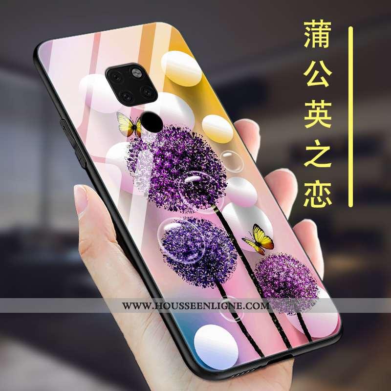 Étui Huawei Mate 20 Protection Verre Incassable Violet Coque Ultra